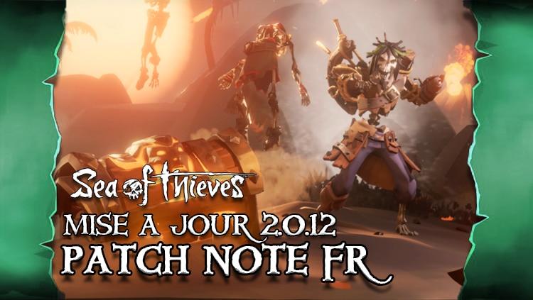 sea of thieves france maj 2.0.12