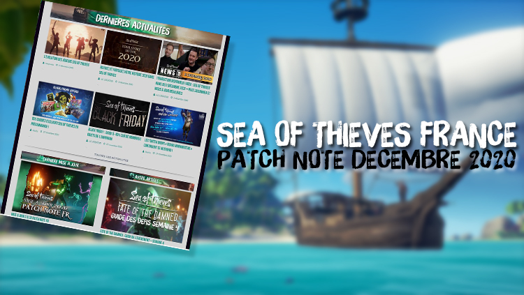 SEA OF THIEVES FRANCE PATCH NOTE